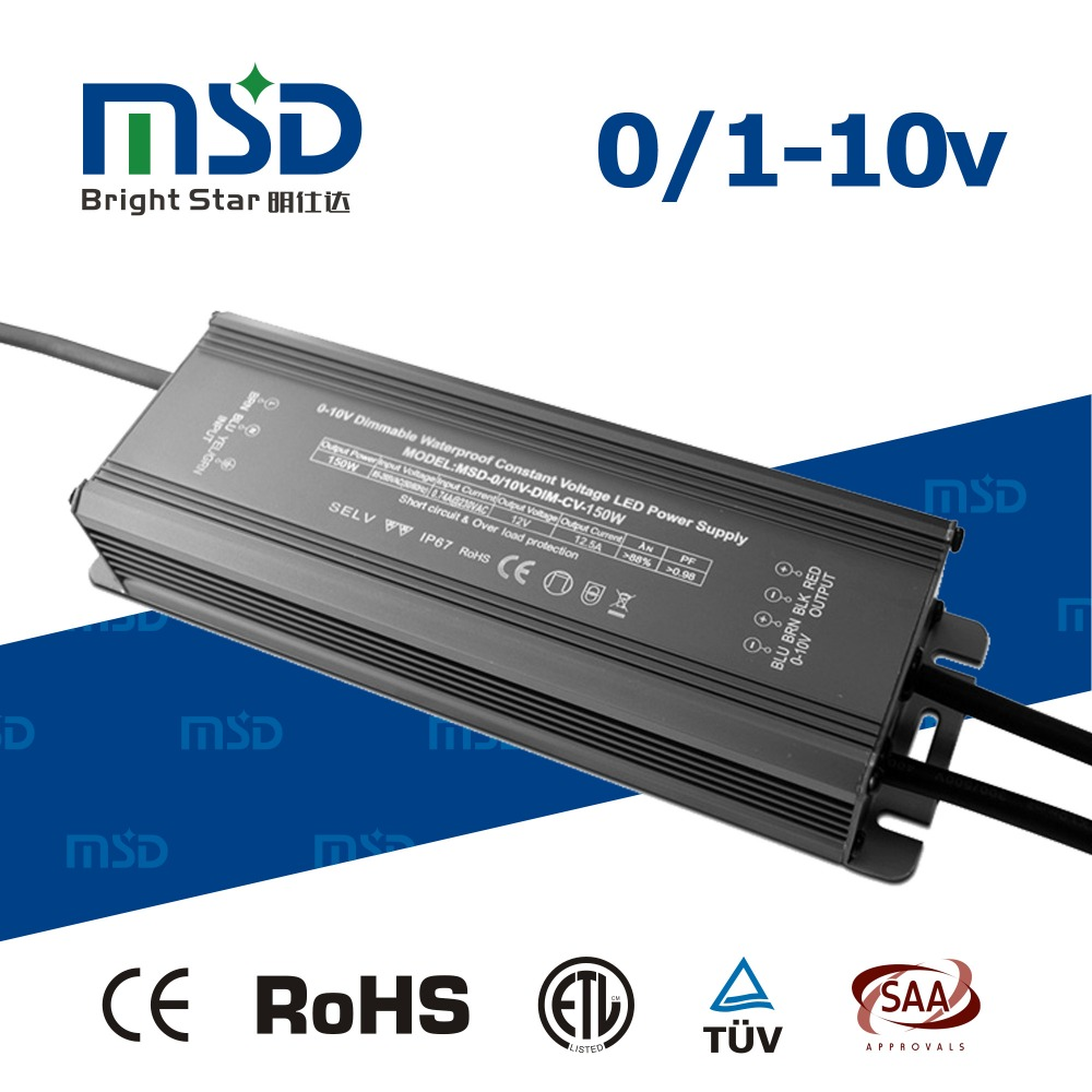 Bright Star LED Strip Drivers Constant Voltage 12V 24V 150W Dimmable LED driver waterproof CE SAA ETL EMC TUV Approved