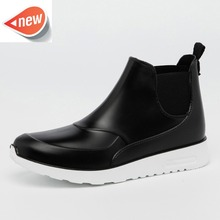 Women Middle height Rain Boots for Mature Ladies Pvc Men's Rain Boots