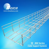 Hot-Dip Galvanized Wire Mesh Cable Tray with Wood Pallet Package