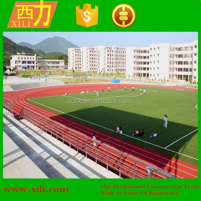School & Stadium outdoor sport polyurethane athletic rubber running track synthetic running track surface race flooring