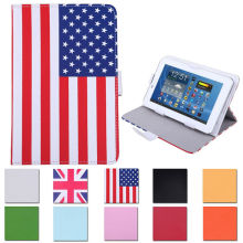 "Universal 7"" Leather Folding Folio Tablet Case Cover"