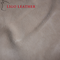 natural leather with suede effect genuine cow leather/ real leather for furniture sofa