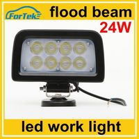 12V/24V auto tuning light led light work light for trucks offroad 24W flood beam