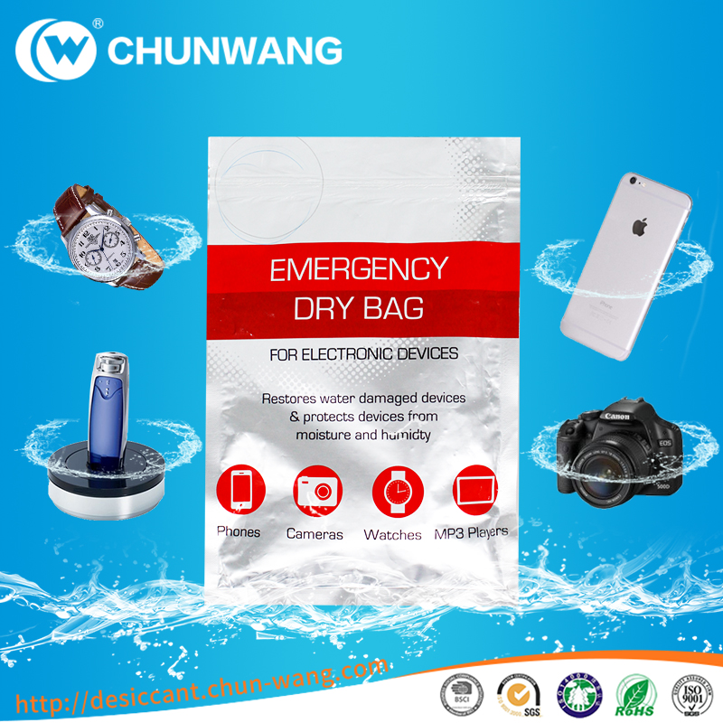Wet Phone and Device Water Damage desiccant Moisture absorber Dry Bag