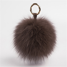 Brown artificial fur decoration ball/faux fur pom pons