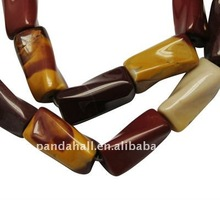 Gemstone Beads Strands, Natural Mookaite, Twist, about 10x22mm, hole: 2mm, about 19pcs/strand(G-A008-3)
