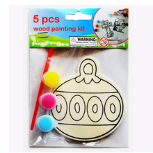 Color-in Wooden Christmas Hanging Decorations Kit Creative Xmas Crafts for Kids