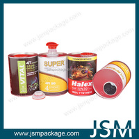 disposable paper cardboard can for lubricating oil