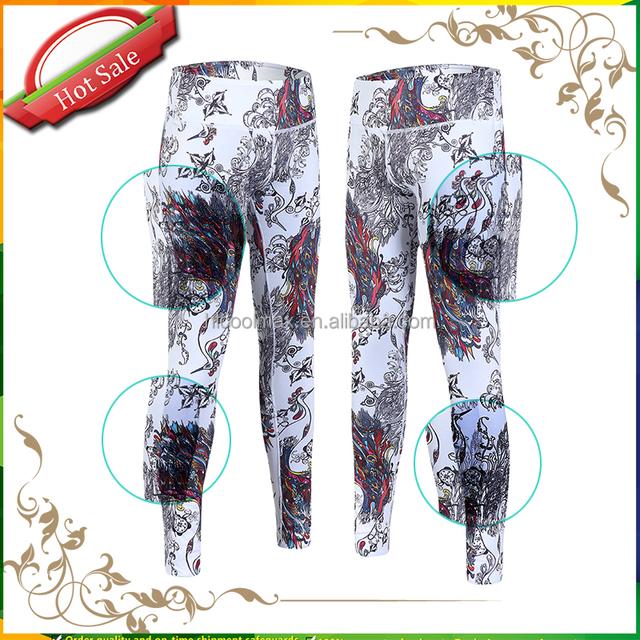 2016 Camouflage Sublimated Sports Womens Yoga Pants