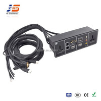 With computer, network, USB, Video and video interface multiple socket