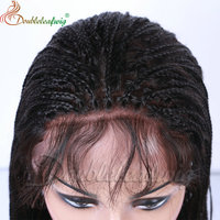 110% Hair density fashionable indian remy hair braided wigs for black women