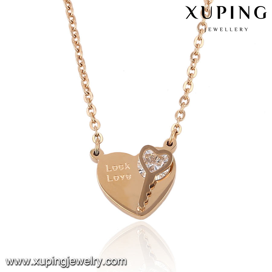00050-Xuping Jewelry Fashion Pendant Necklace With Heart Shaped