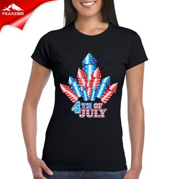 American 4th Of July Heat Transfer Iron On T-shirt
