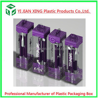 Clear Folding Plastic Box , Color Printing Transparent Plastic Box For Pen