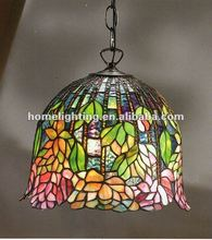 TFP-4534 tiffany flower stained glass shade 13 inch pendant lamp antique home decorative ceiling lighting