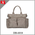 2017 high quality Multi-function Baby diaper bag genuine leather diaper bag