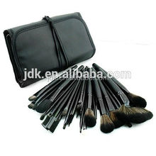 Black makeup up brush sets/cheap makeup brush set 32 piece with pouch from OEM factory China