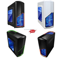 2015 hot selling window acrylic side Tower professional, LED light gaming ATX computer case/ desktop pc case