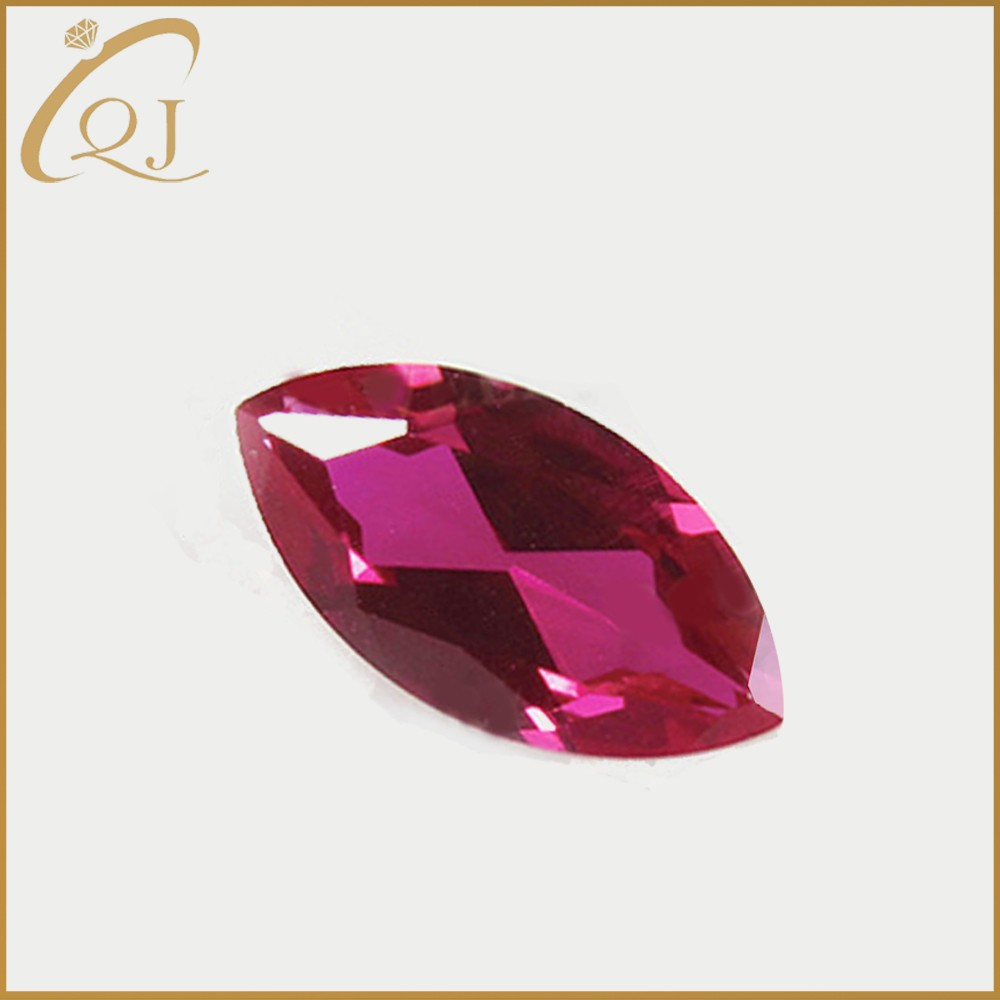 Best price 2*4mm marquise shape 5# ruby