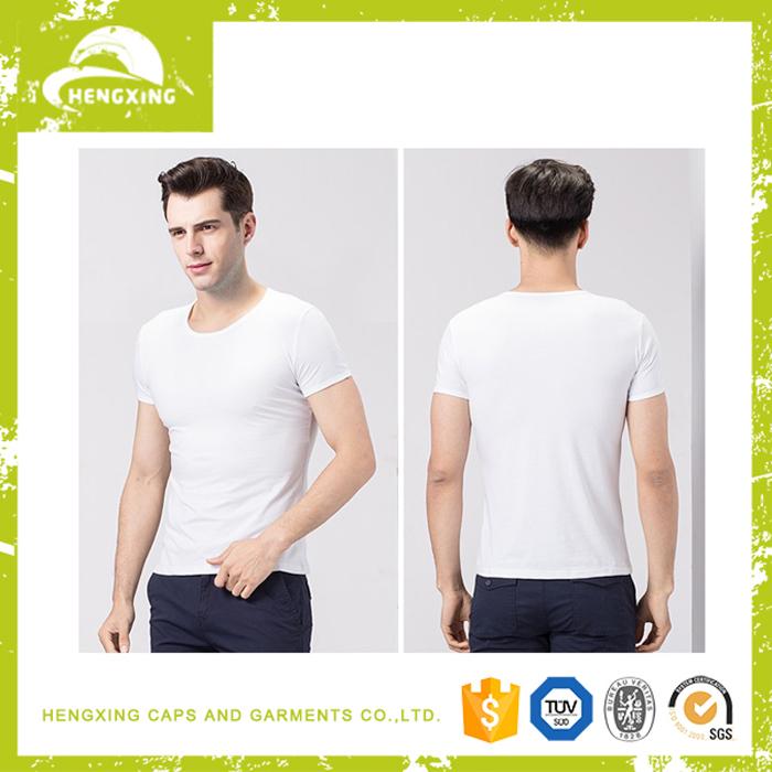 China wholesale custom cotton funny plain white bamboo t for Plain t shirt wholesale philippines