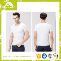China Wholesale Custom Cotton Funny Plain White Bamboo T-shirt