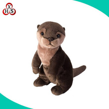 Custom animal toy soft plush otter toy stuffed otter toy