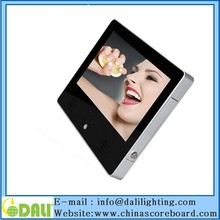 10 11.6 15.6 inch wall mounted cosmetic lcd advertising player lock key