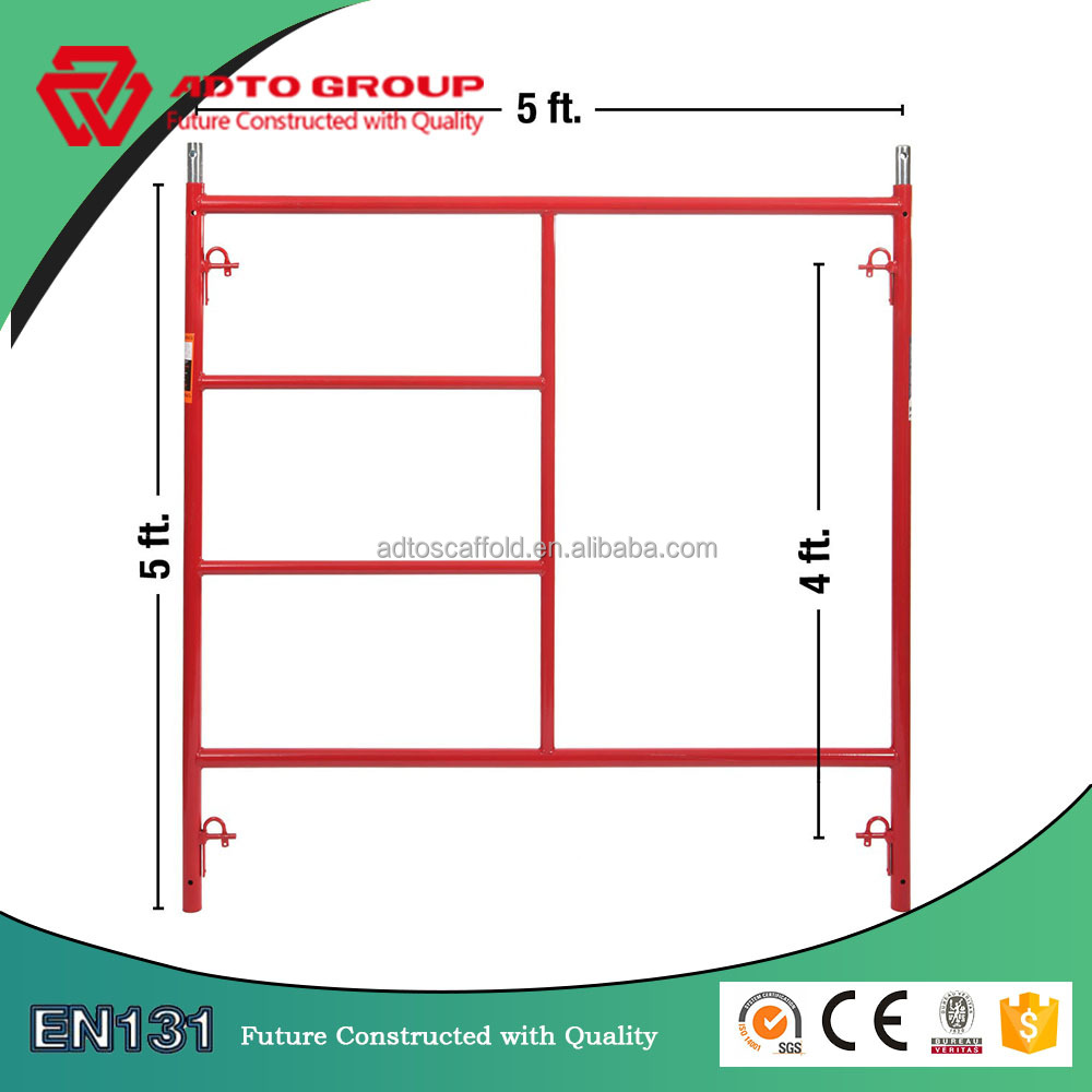 Factory Outlet 5'*5' Fast Lock Door Frame Scaffolding Includes Coupling Pins
