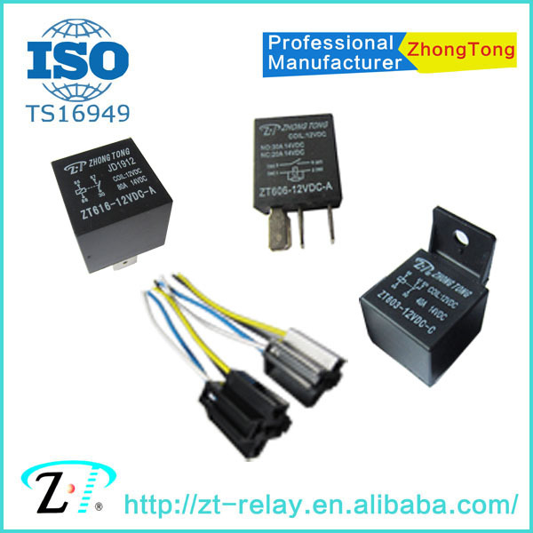 ZT 12v 24v 4pin 5pin 80a 100a PCB auto relay siemens automotive relays