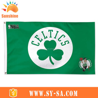 China supplier advertising Heat Transfer outdoor party garden 90*150 left pocket grommet club eagle flag green