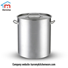 Large stainless steel commercial cooking pot