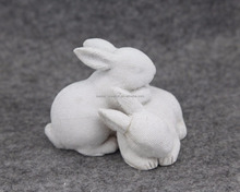 Hot sale bunny rabbit animal resin figurine craft easter decoration