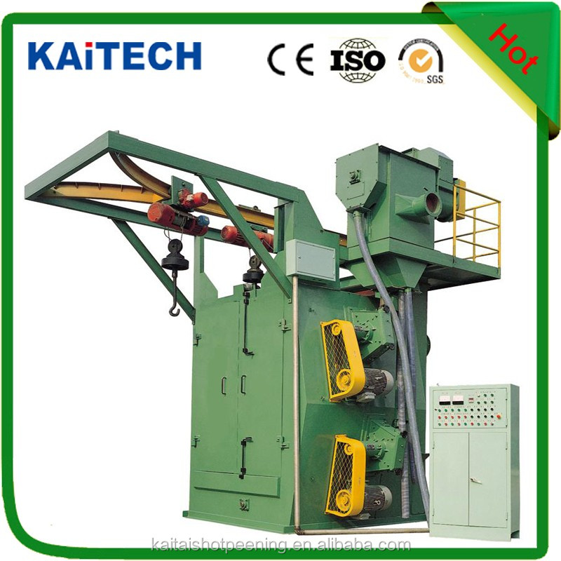 Q37 series CE approved surface cleaning hanger type shot blasting machine