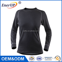 Women Clothing Gym Apparel Thermal Wicking Antibacterial Long Sleeve Sublimation T Shirt