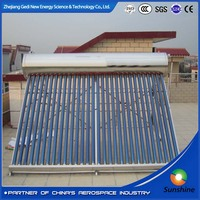 2016 Best Selling Solar Water Heater System Collector with Aluminum alloy stainless steel non pressure solar hot water