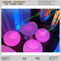 plastic chair apple stool with led lighting
