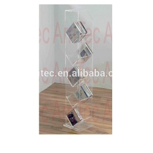 s shapee clear plastic plexiglass acrylic DVD CD display rack for decoration