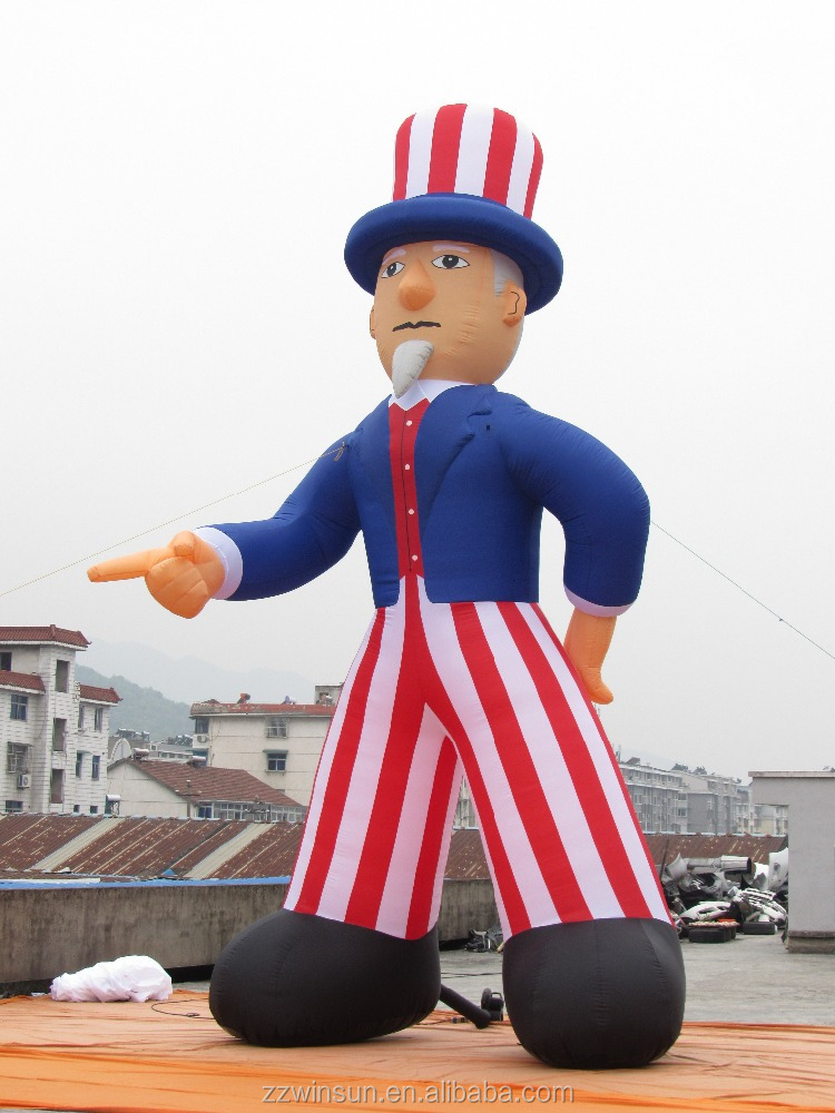 Custom Uncle Sam inflatable model,inflatable advertising,inflatable balloon for sale