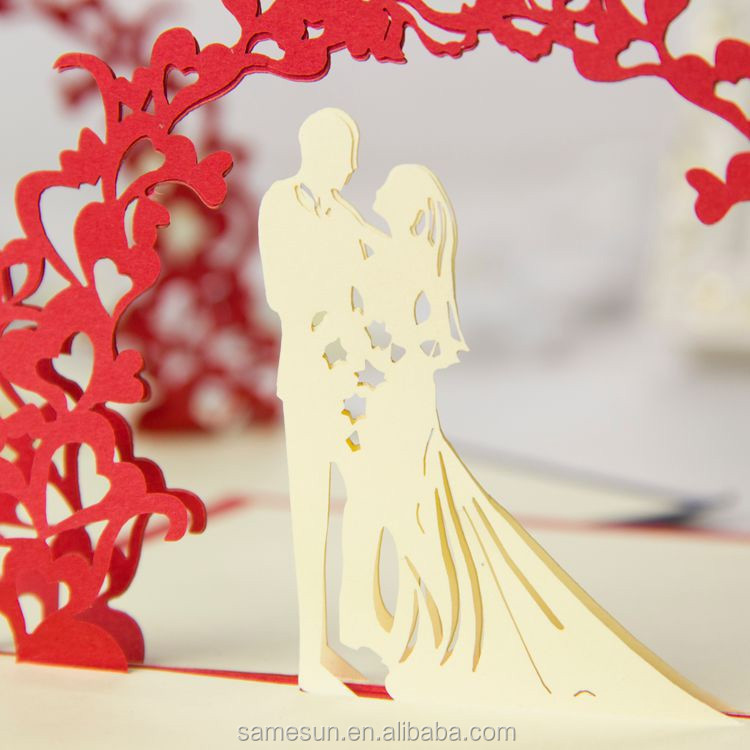 Laser Cut 3d Wedding Invitation Card