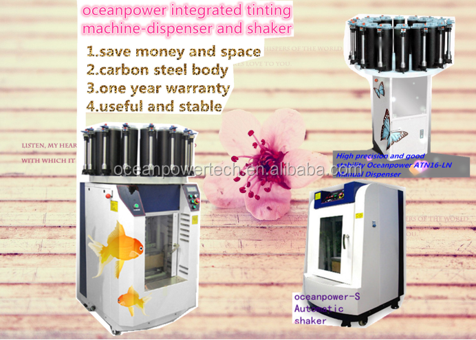 Combined paint dispenser & mixer / color matching machine and paints colorant manufacturing equipment / coating making device