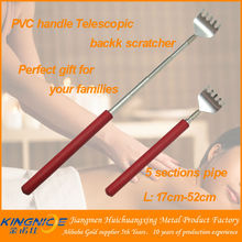 Short handle collapsible back scratcher