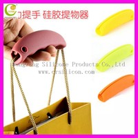 Random Color Silicon Shopping Bag Carrier Grocery Holder ,Colorful silicone bag hanger