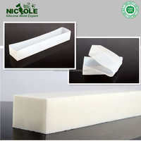 B0263 White Color Thin Long Loaf Bar Silicone Soap Molds Wholesale Free Shipping