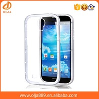 Newest fashional Crystal Clear Case for samsung galaxy s4 TPU PC Cover