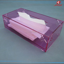 Jayi factory acrylic tissue paper box with clear plastic cover