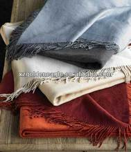 Silk Throw With Fringe Silk Blanket