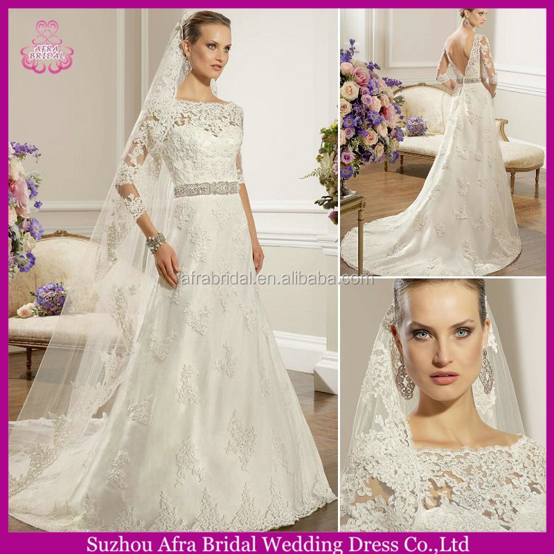 SD1328 backless long sleeve wedding dresses lace sleeves to add to wedding dress