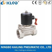 2WB400-40 Normally Closed 24v DC water Air Gas Stainless Steel electric solenoid valve
