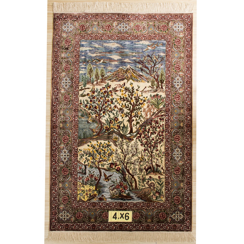 High quality cheap persian carpet handknoted rug perisna design knot Factory Price