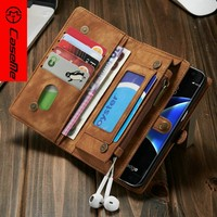 For Samaung s7 case Wood pattern PU Wallet Stand Flip Cell phone case
